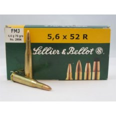 Sellier & Bellot .22 Savage (5.6x52mm) 70 Gr. FMJ- Box of 20