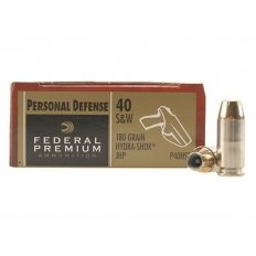 Federal Premium Personal Defense .40 S&W 180 Gr. Hydra-Shok Jacketed Hollow Point- Box of 20