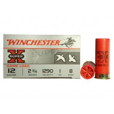 "Winchester Super-X Game Load 12 Gauge 2-3/4"" 1 oz #8 Shot- Box of 25"