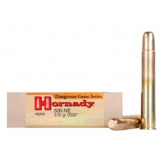"Hornady Dangerous Game .500 Nitro Express 3"" 570 Gr. DGS Round Nose Solid- Box of 20"