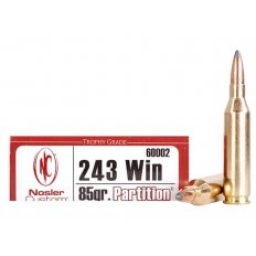 Nosler Trophy Grade .243 Winchester 85 Gr. Partition- Box of 20