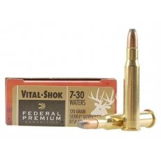 Federal Premium Vital-Shok 7-30 Waters 120 Gr. Sierra GameKing Boat Tail Soft Point Flat Nose- Box of 20