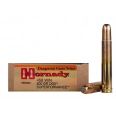 Hornady Dangerous Game SUPERFORMANCE .458 Winchester Magnum 500 Gr. Flat Nose Expanding- Box of 20
