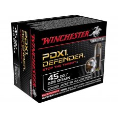 Winchester Supreme Elite Self Defense .45 Long Colt 225 Gr. Bonded PDX1 Jacketed Hollow Point- Box of 20