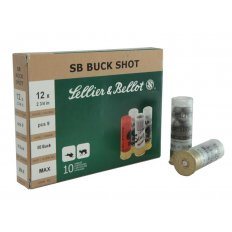 "Sellier & Bellot 12 Gauge 2-3/4"" 00 Buckshot 9 Pellets- Box of 10"