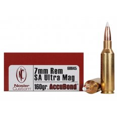 Nosler Trophy Grade 7mm Remington Short Action Ultra Magnum 160 Gr. AccuBond- Box of 20