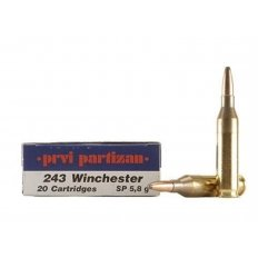Prvi Partizan .243 Winchester 90 Gr. Soft Point- Box of 20