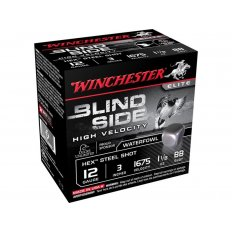 "Winchester Blind Side High Velocity 12 Gauge 3"" 1-1/8 oz BB Non-Toxic Steel Shot- Box of 25"