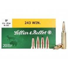Sellier & Bellot .243 Winchester 100 Gr. Soft Point- Box of 20