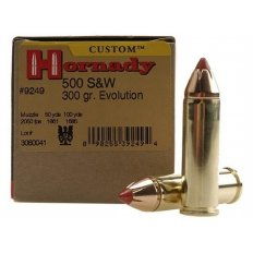 Hornady Custom .500 S&W Magnum 300 Gr. FTX- Box of 20