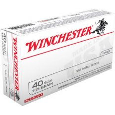 Winchester .40 S&W 165 Gr. Full Metal Jacket- Box of 50