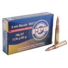 Prvi Partizan Match 8x57mm JS Mauser (8mm Mauser) 200 Gr. Full Metal Jacket- Box of 20