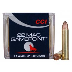 CCI GamePoint .22 WMR 40 Gr. Jacketed Spire Point- Box of 50