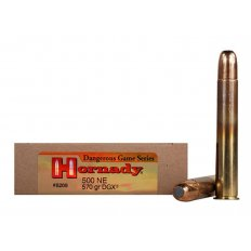 "Hornady Dangerous Game .500 Nitro Express 3"" 570 Gr. DGX Flat Nose Expanding- Box of 20"