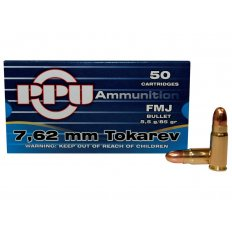 Prvi Partizan 7.62x25mm Tokarev 85 Gr. Full Metal Jacket- Box of 50