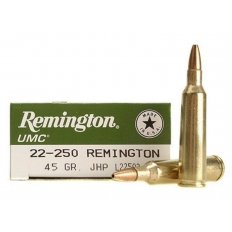 Remington UMC .22-250 Remington 45 Gr. Jacketed Hollow Point- Box of 20