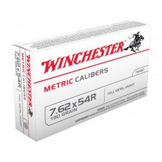 Winchester USA 7.62x54R 180 Gr. Full Metal Jacket- Box of 20