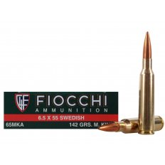 Fiocchi Shooting Dynamics 6.5x55mm Swedish Mauser 142 Gr. Sierra MatchKing Hollow Point Boat Tail 65MKA