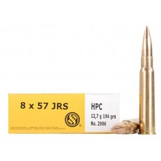 Sellier & Bellot 8mm Rimmed Mauser (8x57mm JRS) 196 Gr. Copper Cap Hollow Point- Box of 20
