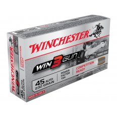 Winchester Win3Gun .45 ACP 230 Gr. Brass Enclosed Base- Box of 50