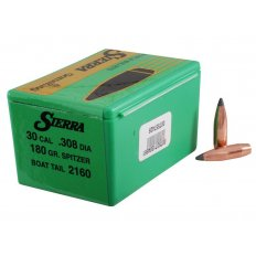 Sierra Bullets .30 Caliber (.308 Diameter) 180 Gr. GameKing Spitzer Boat Tail- Box of 100