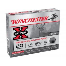"Winchester Super-X 20 Gauge 2-3/4"" 3/4 oz Rifled Slug- Box of 5"