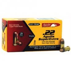 Aguila Super Extra High Velocity .22 Short 29 Gr. Plated Lead Round Nose- Box of 500