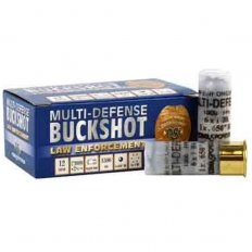 "NobelSport Law Enforcement Multi Defense 12 Gauge 2-3/4"" #1 Buck Shot 6 Pellet- Box of 10"