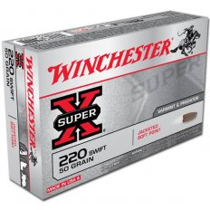 Winchester Super-X .220 Swift 50 Gr. Pointed Soft Point- Box of 20