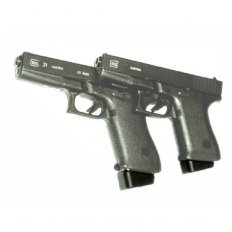 Pearce Grip Extension GLOCK 20 10MM / GLOCK 21 .45 ACP Plus Two- Polymer Black