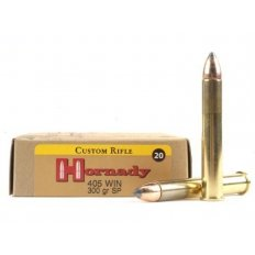 Hornady Custom .405 Winchester 300 Gr. InterLock Spire Point. 8241