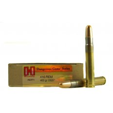 Hornady Dangerous Game .416 Remington Magnum 400 Gr. DGS Round Nose Solid- Box of 20