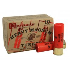 "Hornady Heavy Magnum Turkey 12 Gauge 3"" 1-1/2 oz #4 Nickel Plated Shot- Box of 10"