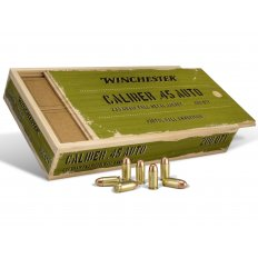 Winchester Military Service Grade .45 ACP 230 Gr. Full Metal Jacket- Wood Box of 200 SG45WB