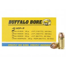 Buffalo Bore .45 ACP +P 185 Gr. Jacketed Hollow Point- Box of 20