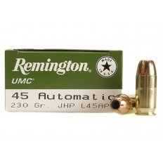 Remington UMC .45 ACP 230 Gr. Jacketed Hollow Point- Box of 50
