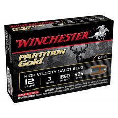 "Winchester 12 Gauge 3"" 385 Gr. Partition Gold Sabot Slug- Box of 5"