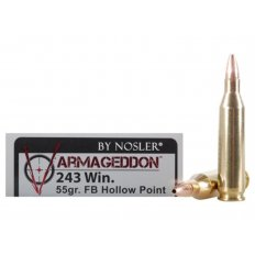 Nosler Varmageddon .243 Winchester 55 Gr. Hollow Point Flat Base- Box of 20