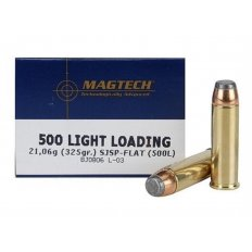 Magtech Sport .500 S&W Magnum 325 Gr. Light Loading Semi Jacketed Soft Point- Box of 20