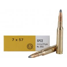 Sellier & Bellot 7x57mm Mauser (7mm Mauser) 173 Gr. Soft Point Cutted Edge- Box of 20