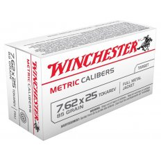 Winchester USA 7.62x25mm Tokarev 85 Gr. Full Metal Jacket- Box of 50