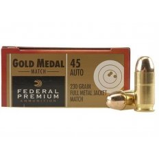 Federal Premium Gold Medal Match .45 ACP 230 Gr. Full Metal Jacket- Box of 50