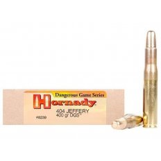 Hornady Dangerous Game .404 Jeffery 400 Gr. DGS Flat Nose Solid- Box of 20