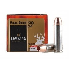 Federal Premium Vital-Shok .500 S&W Magnum 275 Gr. Barnes XPB Hollow Point- Lead-Free- Box of 20