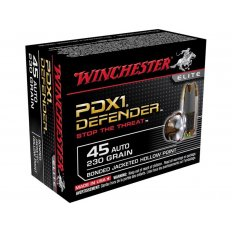Winchester Supreme Elite Self Defense .45 ACP 230 Gr. Bonded PDX1 Jacketed Hollow Point- Box of 20