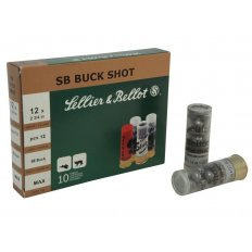 "Sellier & Bellot 12 Gauge 2-3/4"" 00 Buckshot- 12 Pellets- Box of 25"