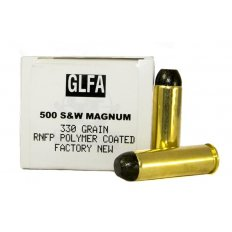 GLFA .500 S&W 330 Gr. Polymer Coated Round Nose Flat Point- Box of 20