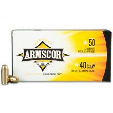 Armscor .40 S&W 180 Gr. Full Metal Jacket- Box of 50