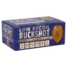 "NobelSport Law Enforcement 12 Gauge 2-3/4"" Low Recoil 00 Buckshot 9 Pellets- Box of 10"