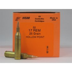 HSM .17 Remington 25 Gr. Hollow Point- Box of 50